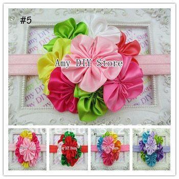 Free Shipping!12pcs/lot 1.5cm Width Luxurious Flower Cluster Headband,Kids Fashion Headbands,Hair accessory