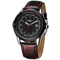 Box Packing 3ATM WR Original EYKI Mens Sports Quartz Analog Watch with Calendar Free shipping EOV8540G-SB