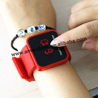 50pcs/lot,2013 hot sale led mirror touch screen watch,silicone unisex digital watches,fashion cheap watch.