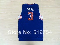 Free Shipping,#3 Chris Paul red Rev 30 New Material Basketball jersey,Embroidery logos,Size 44-56