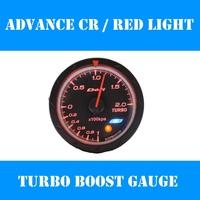 2.5 INCH 60MM Defi Advance CR Gauge / Turbo Boost Meter, Defi Gauges, Car Meter , Car Gauge, Black Face + (Red and White Light)