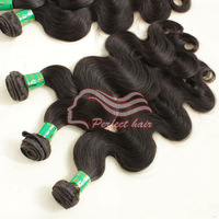 Virgin Brazilian human hair weft body wavy natural color 3.5oz/pcs  3pc/lot  more size