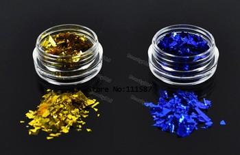 New 12 Colors Ice Mylar Nail Glitter For Acrylic / UV GEL Nail Art Decoration 4387