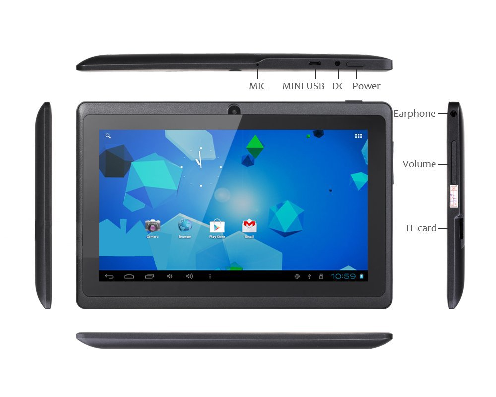Q88 AllWinner A13 1.2GHz 512MB/4GB Android 4.0 Tablet pc Capacitive