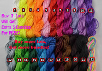 Wholesale/Retail 1mm*140M/150yds/lot Mix Colour Beading Shamballa Cord Nylon 1mm  Rope for Shamballa Bracelet/Necklace