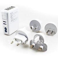 1500pcs(300sets)/lot, 4 USB Ports Wall Charger w/ EU/AU/US/UK Plug for iPad iPod iPhone 5 5G 4G 4S Samsung i9500 i9300