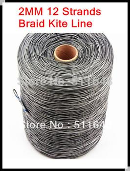 Free shipping 500m 1050lb PE braid UHMWPE kite line 2mm 12 strands super power