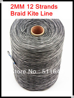 Free shipping 500m 1050lb PE braid spectra kite line 2mm 12 strands super power