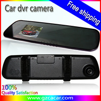 Newest 2.7 inch mirror car dvr recorder with USB and AV output ,IR night vision,car mirror dvr camera dvr,Free shipping