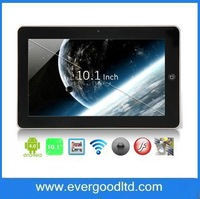 Free Shipping 10.1inch Allwinner A10 Tablet PC Memory 1GB SSD 4GB Android 4.0 with Cameras WI-FI GPS