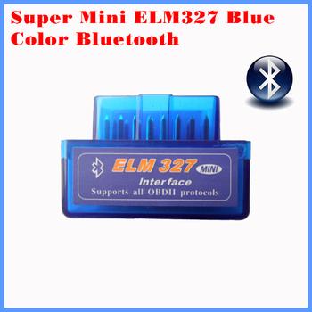 2015 New version diagnostic tool code reader  V1.5 blue color super mini ELM327 Bluetooth OBD-II OBD