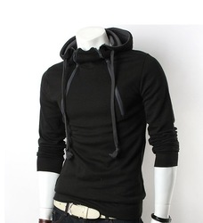 2012/FREE SHIPPING/sports/long sleeve/iautumn and winter/men's clothing/coat/ Wear hat clothing/health garments(China (Mainland))