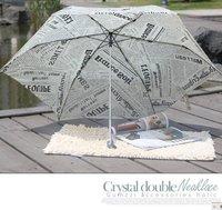 Ultralight creative pencil umbrella, English newspapers umbrella big umbrella face