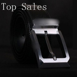 New Arrivals+1pcs/ lot+Fashion Designer Fashion Design Men's 100% Genuine Leather Leather Belt Black & Men's The best gift(China (Mainland))