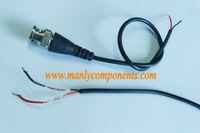 Wholesale 1000pcs  BNC Connector with Cable for CCTV System