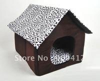 Free Shipping Hotting  52*63*53 Large Luxury  Pet Dog House  Dog Bed   Cat Kennel