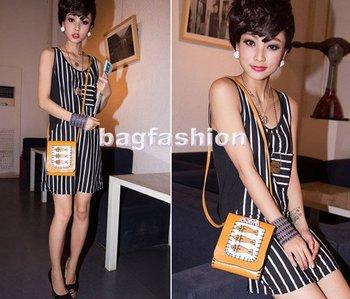 cute handbags womenThree-fish Cross-body bags for girls Shoulder Tote Bag leather messenger bag drop shipping 5689