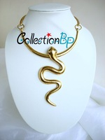 HOT SALE High Quality Fashion 18k Gold Plated Snake Necklace