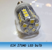 AC 220V E14 Base 5W 27pcs 5050 Smd LED Warm White Spot Light Bulb Lamp 10PCS