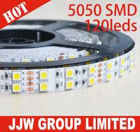 leds strips Double row DC12V or DC24V strips led RGB 5050 smd 600 leds 5m 120 led per meter strip 600leds for 5m
