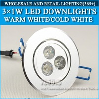 Wholesale 20pcs 3W 6W 9W High power led downlights Warm white/cold white AC85-265V Free Shipping/DHL