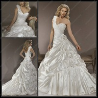 Vintage Sweetheart One shoulder  Designer  Wedding Dress 2012  MD-B094