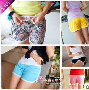 Candy ladies Summer Shorts Shorts pants Beach Tennis Shorts One size fits all, cotton/free shipping