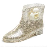 Camellias Ankle Boots 2014 Hot Sale Women Rain Boots Bowtie Rubber Boots Botas Femininas Rainboots Galocha Women's Shoes