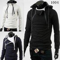 spring 2014 mens special hoodie jacket  hood collar men's jacket top brand men's coat korean fashion men's Fashion hoody black