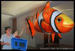 Free shipping New arrival the third generation air fish rc shark clown fish nemo inflatable with helium air diy toy & hobby(China (Mainland))