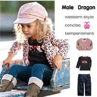christmas girl clothing suit baby girl character streetwear set peppa pig roupa infantil full denim girls sets 3pcs sets