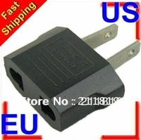 Free shipping 10pcs EU to US USA POWER PLUG ADAPTER TRAVEL CONVERTER