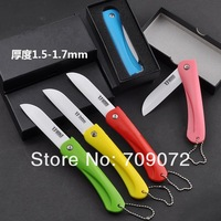 Folding Ceramic Knife 3.2 inch (7.8 cm) Ceramic blade paring knife 2 pcs/lot