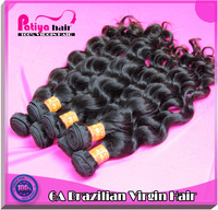 Healthy beautiful cheap brazilian hair 3pcs/lot free shipping virgin brazilian ocean wavy human hair extensions,natural color