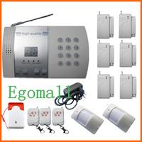 6 Door Sensor 99-Zone Voice Wireless PSTN Burglar Home Security Alarm Systems With Auto Dialer  S215