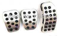 Stainless Car Pedal Pads for M/T Ford Fiesta Brake Clutch Accelerator Gas Pedals