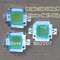 Free Shipping,16pcs/lot SuperBrightness 1300lm Epistar 45mil 10W LED Chip COB Module Emitter 2000K To 20000K White with CE&RoHS