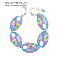 Neoglory Jewelry Stoving Varnish Multicolor Enamel Bangles & Bracelets for Women Retro Vintage Fashion Ethnic Gifts 2014 New Hot