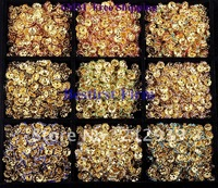 Wholesale Mixed 9 Colors Gold Plated 500Pcs 6MM Crystal DMC Rhinestone Spacer Rondelle Beads Accessory In Straight/ Flower Side!