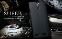 Free shipping Nillkin skin hard case for Sony Xperia S LT26i Xperia Arc HD,screen protector