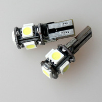 Free Shipping 30pcs/lot  T10 W5W 194 5050 SMD 5 LED Error Free Car Canbus LED Lamp NO OBC Error White Light Bulbs