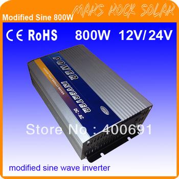 Off grid 800W modified sine wave inverter for solar or wind system , 12V/24V DC 100V-120V/ 220V-240V AC ,2 years warranty!!!,