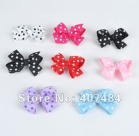 Free shipping 2013 wholesale boutique Toddler Hairbow pokla dot  hair bows with clips.48pieces/lot