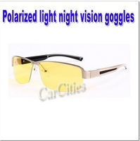 Polarized light night vision goggles,fashion sunglass for driving at night,Yellow Lenses night version glasses,free shipping