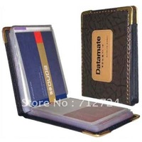 Free Shipping! Leatherette Pocket Business Credit ID Name Card Holder Case Organizer Book Wallet 60 Cards