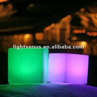 BSCI factory direct sale 30*30*30cm Party/home/bar PE led cube chair/light