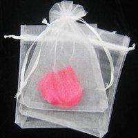 Hot! 200 pcs/lot 9X12CM  Silk Organza earrins ring neckalce Jewelry Wedding Gift Pouch Bags packaging bag BX022