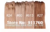New High Quality Blonde Human hair extensions 20inches silky straight 10 different colors stock for shipping, 100gram/pcs