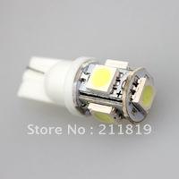 Free shipping 100pcs White Car LED Lamp T10 W5W 194 5050 5 SMD Light LED  Bulbs