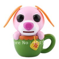 Cute Solar Powered Ears Shaking Cup Puppy Coin Bank (Color Assorted) -60810